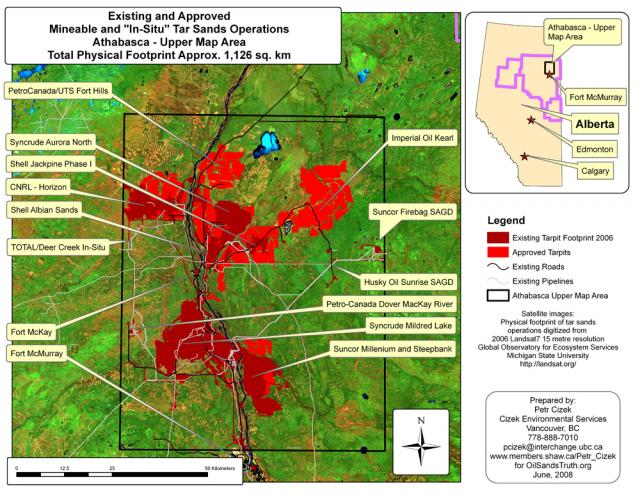 Mineable Tar Sands Region, Existing and Approved Projects