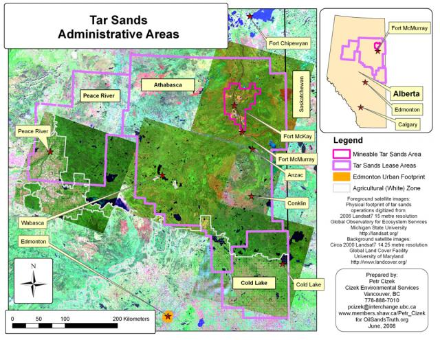Tar Sands Administrative Areas