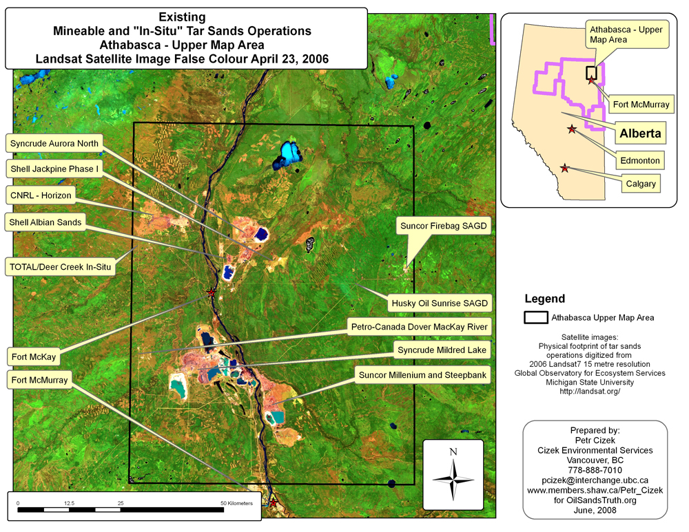 Athabasca Mineable Region Tar Sands 2006 Satellite Image