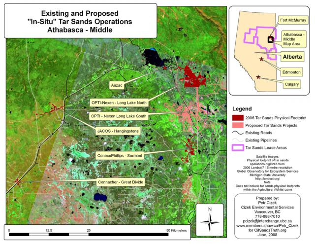 Athabasca Middle Region, Existing and Proposed Projects