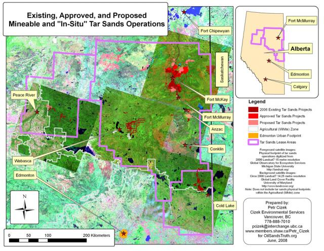 tar sands administrative areas existing, approved, and proposed